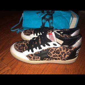 GOLDEN GOOSE BallStar Leopard Sneakers BRAND NEW